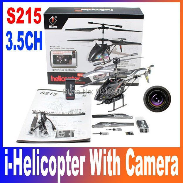 Free Shipping New Arriver WL S215 iPhone / Andoird Control 3.5CH Video RC helicopter Mini Gyro Camera i-Helicopter Ihelicopter