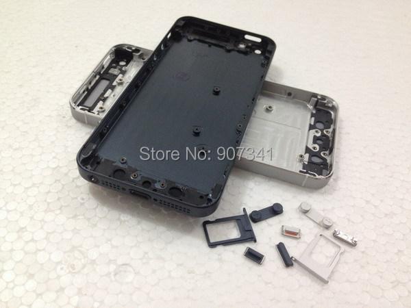 Черный белый цвет запасная часть полный корпус задняя крышка батарейного отсека ближний металлический каркас вернуться корпус для iphone 5 5 г бесплатная доставка