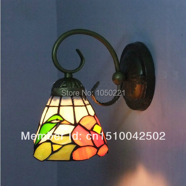 European Style Vintage Lighting for Wall Light Reading Nostalgic Diy Stained Glass Wall Light Vintage Lighting for Wall(China (Mainland))