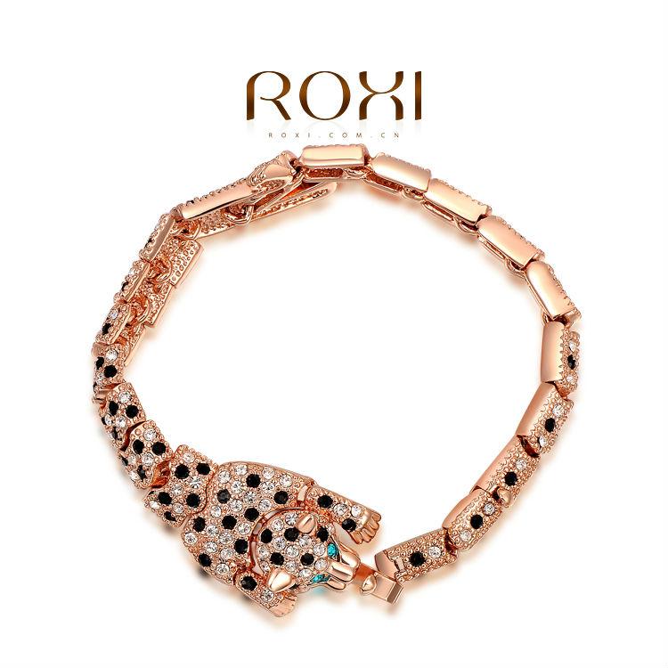 2015 ROXI brand women Leopard Bangles,fashion women jewelry,ChineseButterfly,Austrian crystal,Chrismas/Valentine's Day gifts(China (Mainland))