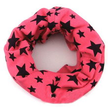 9 color Classic children's cotton scarf kids boy girl Ring Scarfs Shawl Unisex Winter knitting stars Collar Neck Warmer new 2014