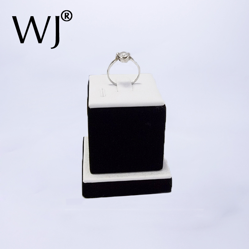 Counter Top Wedding Jewelry Ring Display Stand Holder Tower Jewellery Ring Showcase Organizer Rack White and Black Shop Decorate(China (Mainland))