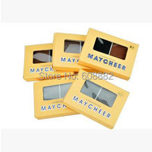 Free shipping Sexy Products Beauty Fashion Women Girl Cosmetic Makeup Eyebrow Shading Powder 2 color Palette with Brush(China (Mainland))