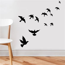 Birds Flying Feather Vinyl Wall Sticker Bedroom Home Decal Mural Art Decor(China (Mainland))