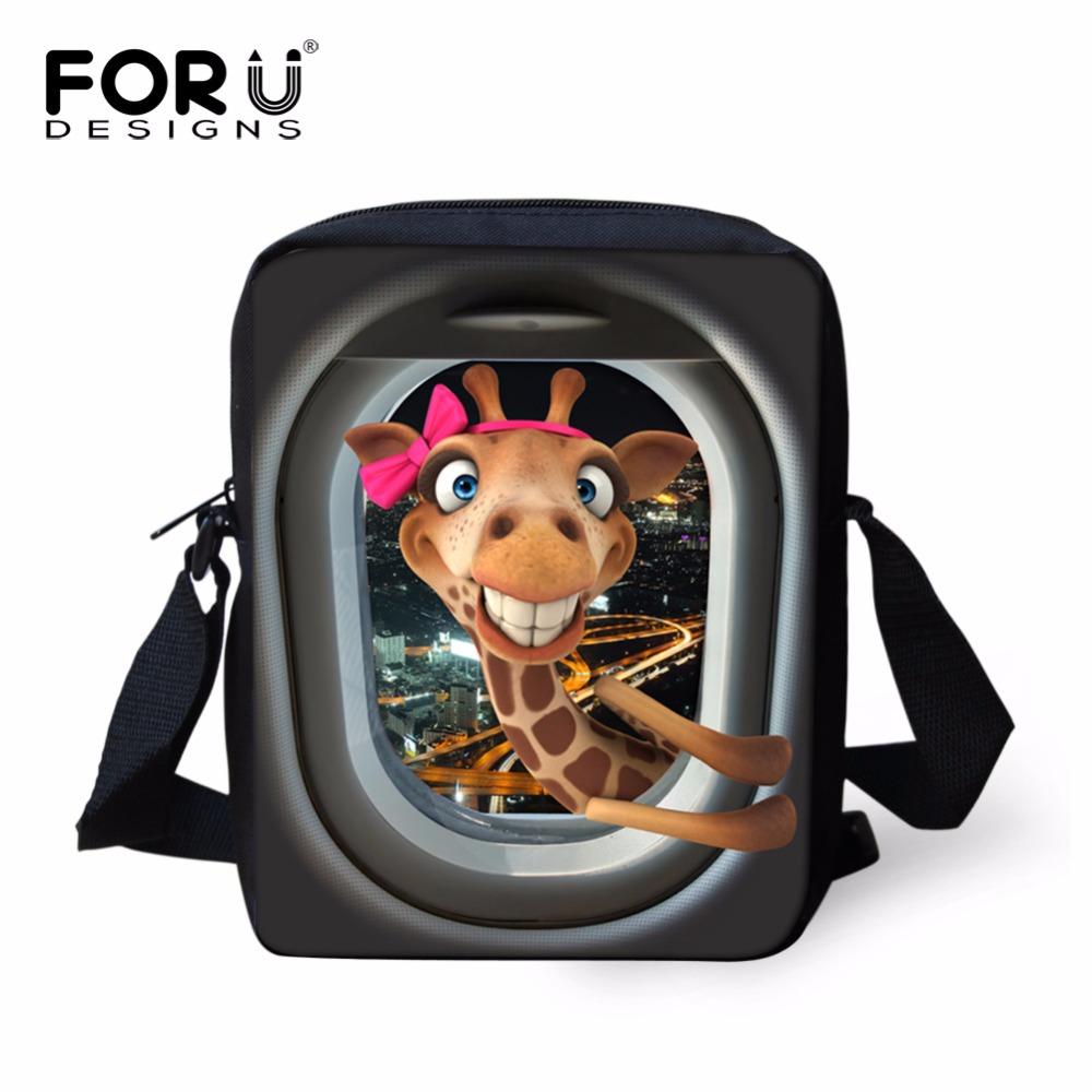 Mini Animal Printing Crossbody Bags for Women Girls to School Small Baby Kids Fashion 3D Messenger-Bags Men Boys Messenger Bag(China (Mainland))