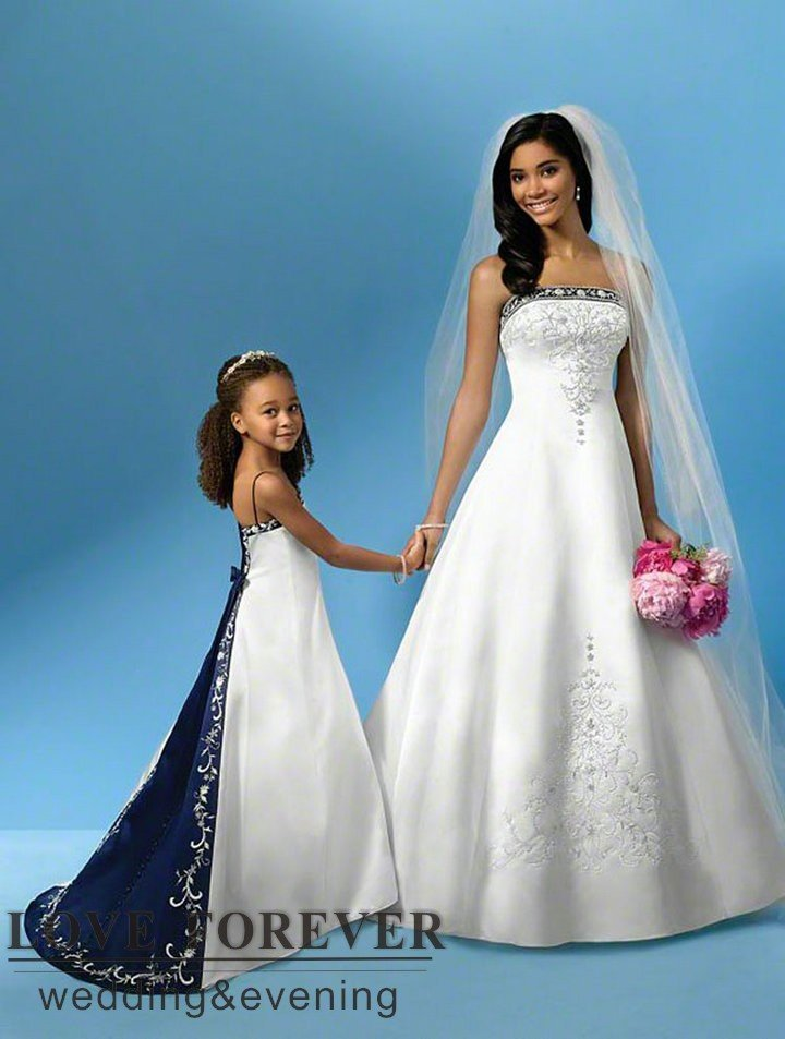 Ball gown best selling silver embroidery royal blue and for Royal blue and silver wedding dresses