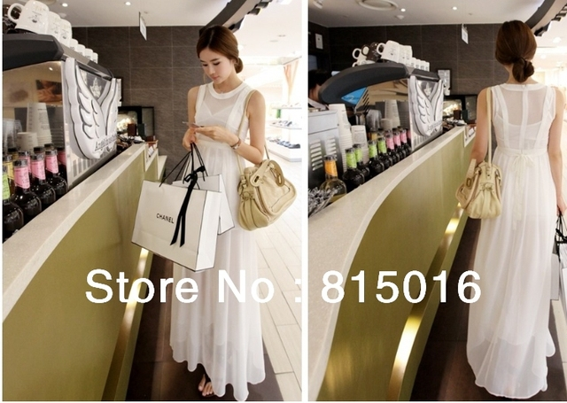 Free shipping 2013 fashion sexy dress,Chiffon long dress elegant solid long dress women Maxi Dresses origin from China