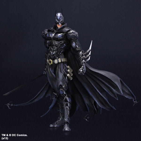 DC Comics Play Arts Justice League America Anime Batman Limited Edition Blue Black Action Figure Toys 27cm Collection Model 0354(China (Mainland))