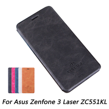 Mofi For Asus Zenfone 3 Laser ZC551KL Case Luxury Flip PU Leather Stand Case For Asus ZC551KL Book Style Leather Cover(China (Mainland))