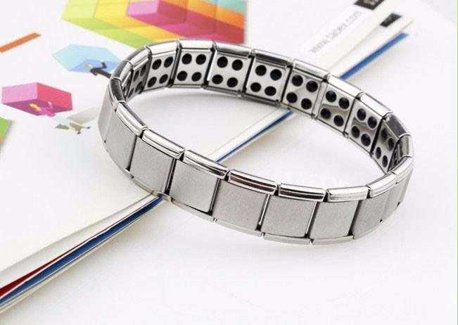 bracelet titanium 80 germanium nano nergie magn tique anti fatigue anti stress ebay. Black Bedroom Furniture Sets. Home Design Ideas