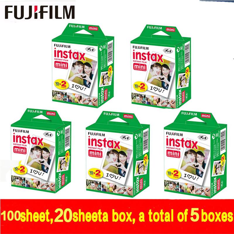 free shipping Fujifilm Fuji Instax Mini White Film 100 Sheet Instant Photo Paper For Instax Mini 8 7s 25 50s 55 SP-1 Camera(China (Mainland))