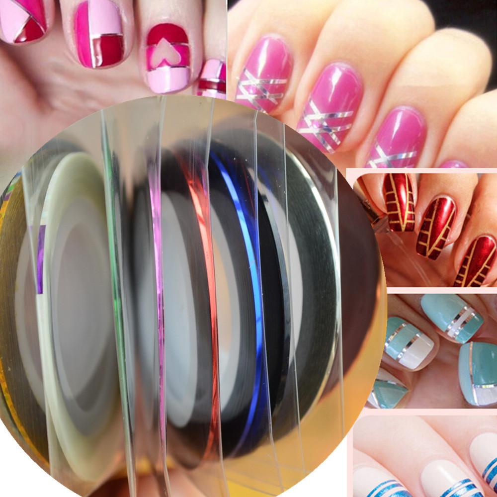 1pcs NEW Metallic Nail Art Tape Lace Line Strips Striping Decoration For UV Gel Polish Nail Art Self-Adhesive Decal Tools NS10(China (Mainland))