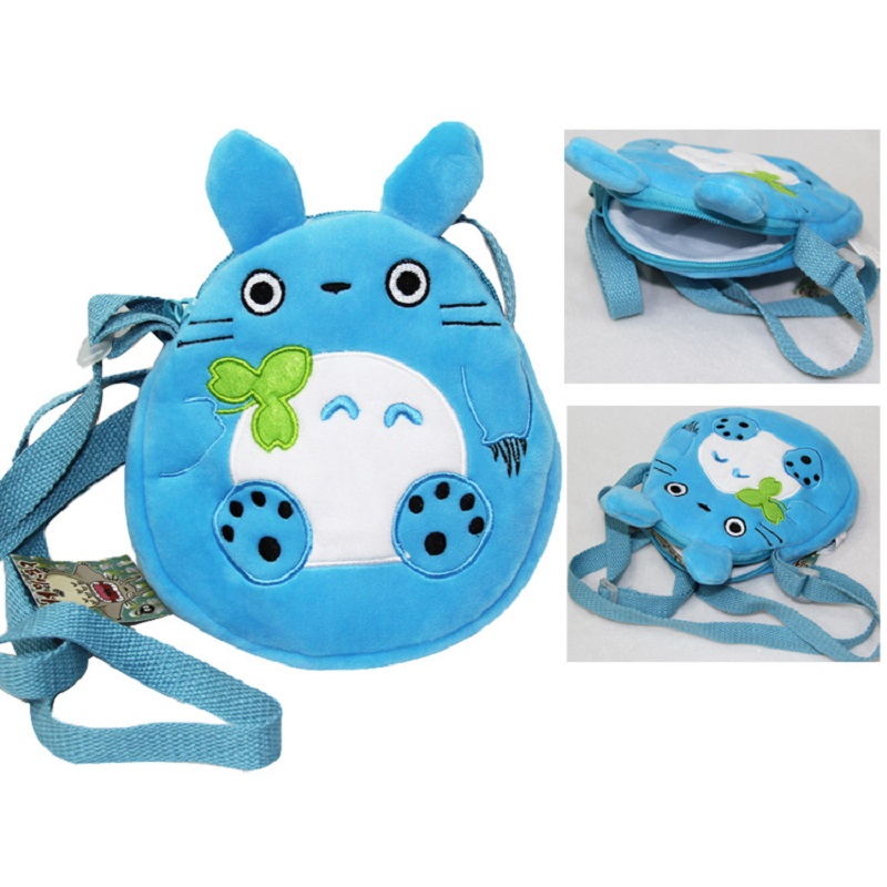 Cute Totoro plush backpacks kawaii messenger bag cartoon bag mochila(China (Mainland))