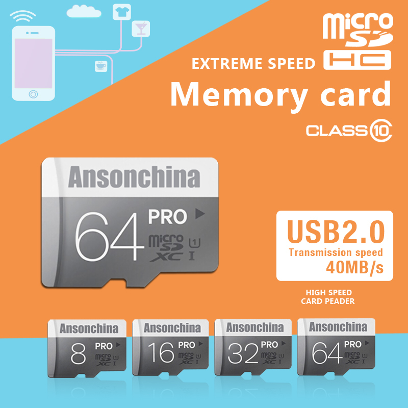 product 100% Original Gary Micro SD Card 64GB 32GB 16GB Class 10 High Speed Memory Card 8GB Class 6 Cartao de Memoria Carte SD Tarjeta