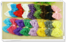 DIY Hair Accessories 4.72'/12cm Chiffon Rose Bows Rosette Bows Baby Hair Bow Wholesale 17colors stock 85 PCS/LOT Free Shipping(China (Mainland))