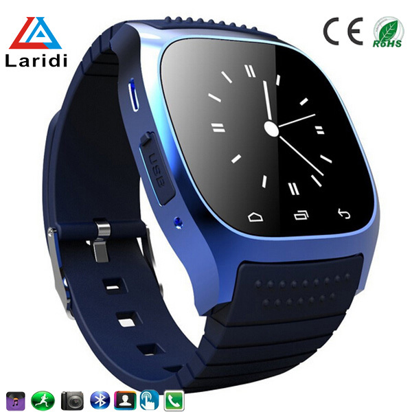 Free Shipping 2015 Hot selling bluetooth smart watch M26 lady watches support pedometer calendar and android mobile phone(China (Mainland))