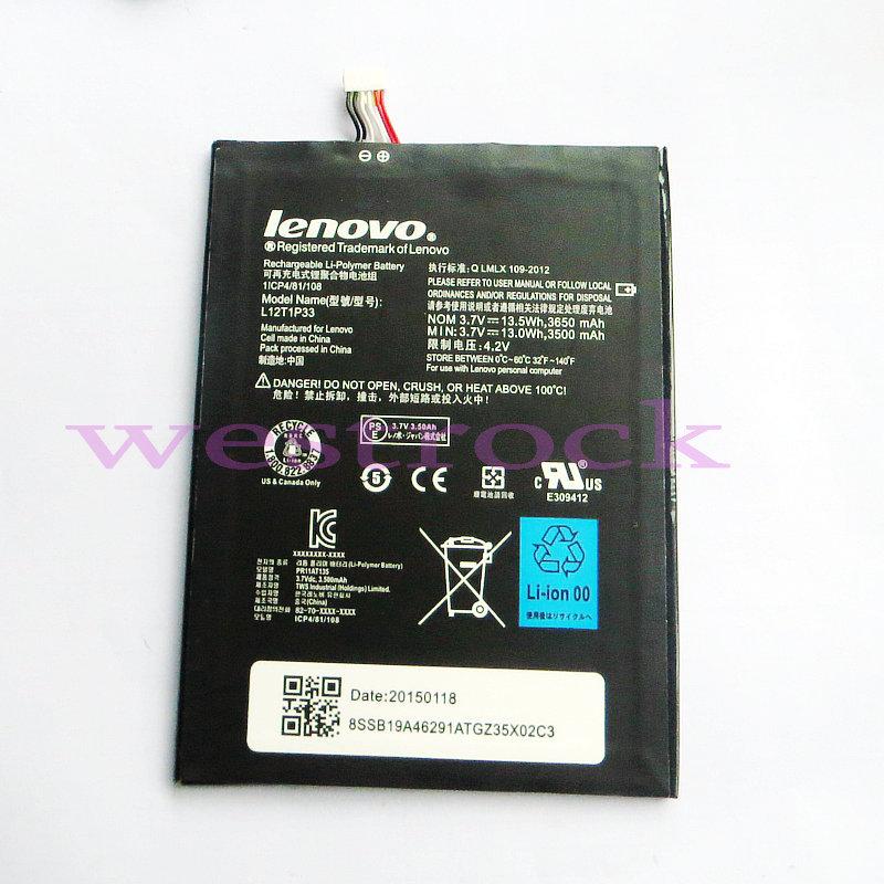 Оригинал 3650mAh ПК ideatab lepad компании Lenovo А1000 A1010 A5000 a3000 у a3000 у-ч аккумулятор ноутбука Аккумуляторы Batterij Батерия L12D1P31 L12T1P33