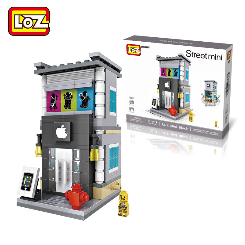 LOZ Mini Street View Creative Toys Fast Food Coffee Digital Products Convenience Store Assembled Building Blocks Dianxiatoy(China (Mainland))