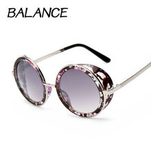 12 colour Sunglasses for Women Vintage large round sunglasses classic steampunk Sun Glasses Female oculos de sol feminino S15018