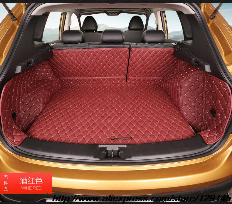 Купить Все объемный багажник автомобиля коврик для Nissan Qashqai 3D TPE + XPE противоскользящие кожаный коврик багажника Индивидуальные пол коврик автомобиля 3D стиль