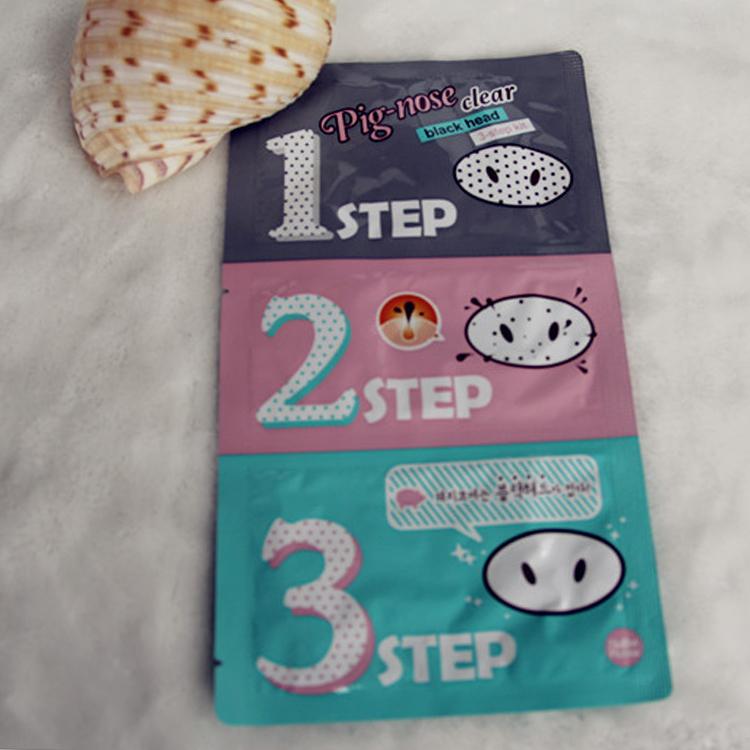 NEW 1pcs Holika Holika Pig Nose Clear Black Head 3 Step Kit Beauty Cleaning Supplies Drop Shipping MU-067(China (Mainland))