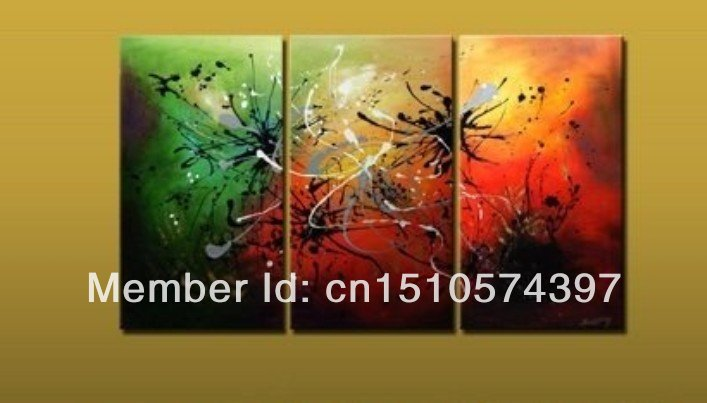 Free Shipping!!High Quality Modern Abstract Oil Painting on Canvas Art group oil paintings home decoration WKH0053(China (Mainland))