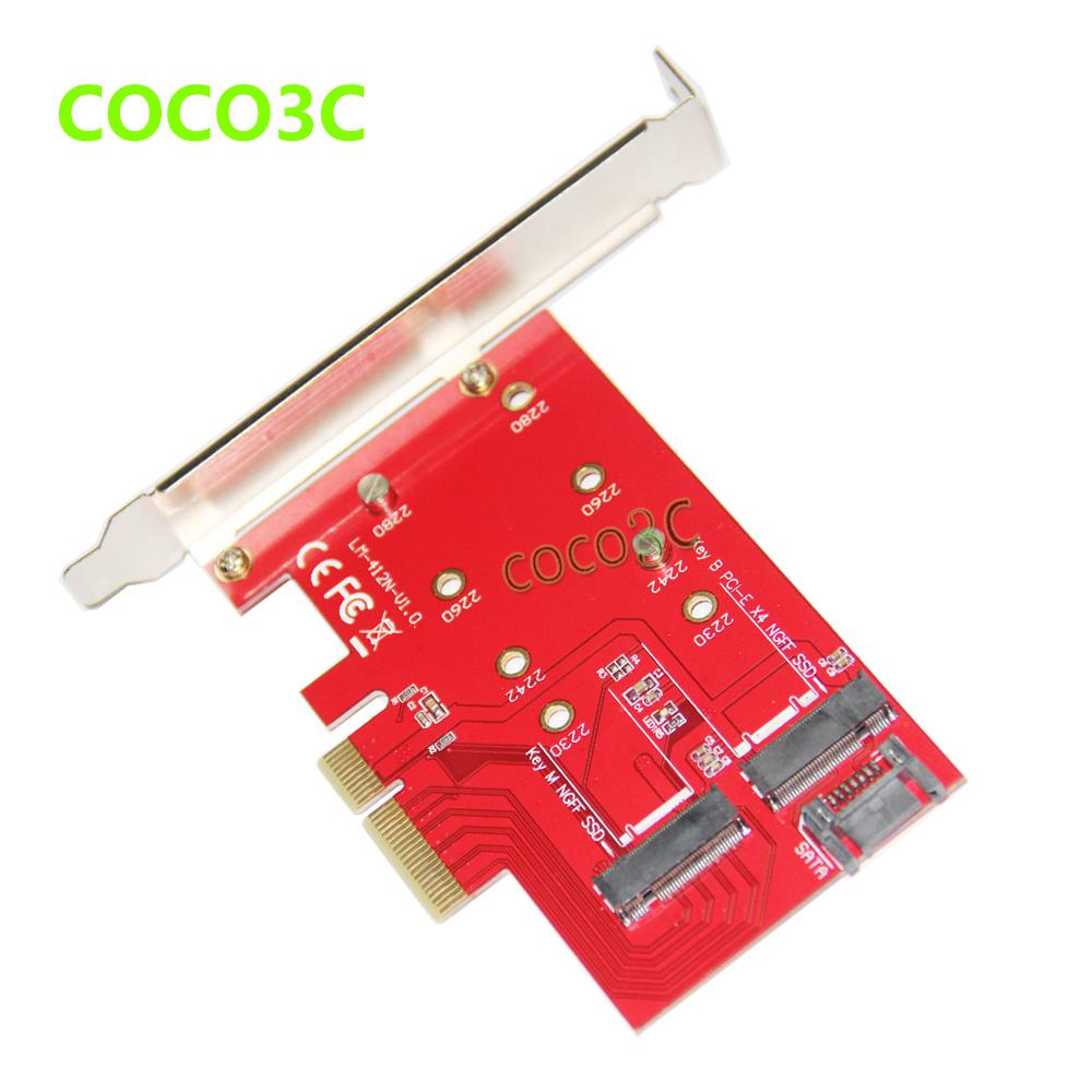 2 in 1 PCI express 4x to B Key NGFF SSD + WiFi &amp; Bluetooth 4.0 M.2 Module SATA 6Gbps to M Key M.2 SSD adapter<br><br>Aliexpress
