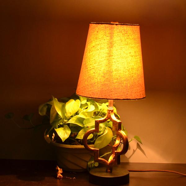 Loft vintage glans ijzer stof moderne tafel lampen edison industriële