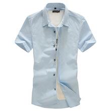 Plus Big Size:8XL 7XL 6XL 5XL-L MAX CHEST 145CM Mens Shirts Fashion 2016 Spring Summer short sleeves casual Solid man shirt(China (Mainland))