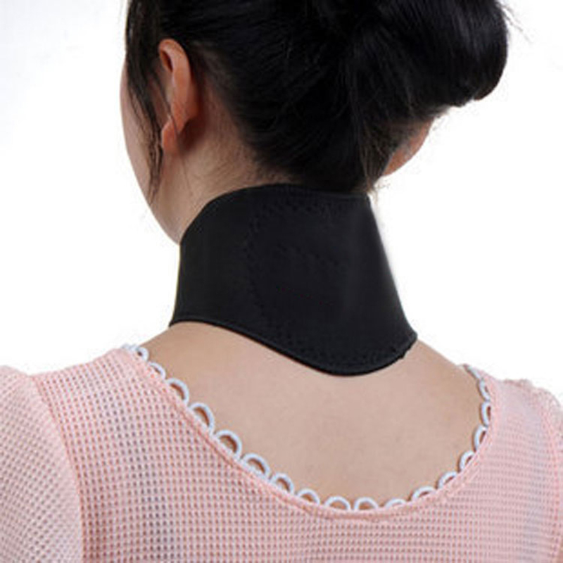 1PCS Magnetic Therapy Neck Massager Cervical Vertebra Protection Spontaneous Heating Belt Body Massager(China (Mainland))