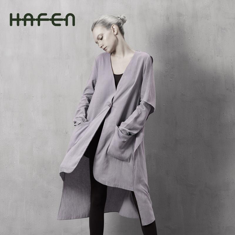 Hafen women's original design linen formal long-sleeve dress clothes(China (Mainland))