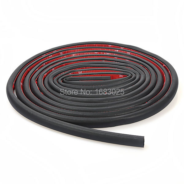 D-shape Car Truck Motor Door Rubber Seal Strip Wheatherstrip Sealing Hollow 4M Universal Rubber Door Sealing Trim