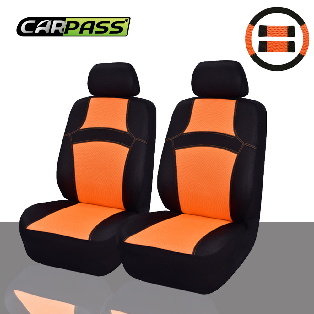 CAR-PASS 6PCS RAINBOW Universal Cute Car Seat Covers 100% Breathable Orange/Pink/Blue/Green Summer Car Seat covers Fit mazda 3(China (Mainland))