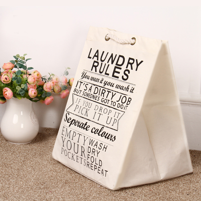 Laundry basket only for children room decoration toys cleared can stand canvas STORAGE BAG bearing 1.5KG top(China (Mainland))