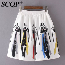 Buy Printed Girls Vintage Skirts Womens Women 2016 Summer Style Pleated Mini Skirt Ladies Office Sexy Beach White Women'S Skirts for $12.09 in AliExpress store