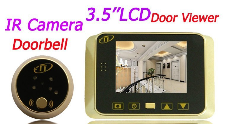 2015 DIY 3.5 Inch TFT LCD Display 120 Wide Degree Infrared Night Vision Electronic Peephole Touch Operation Digital Door viewer(China (Mainland))