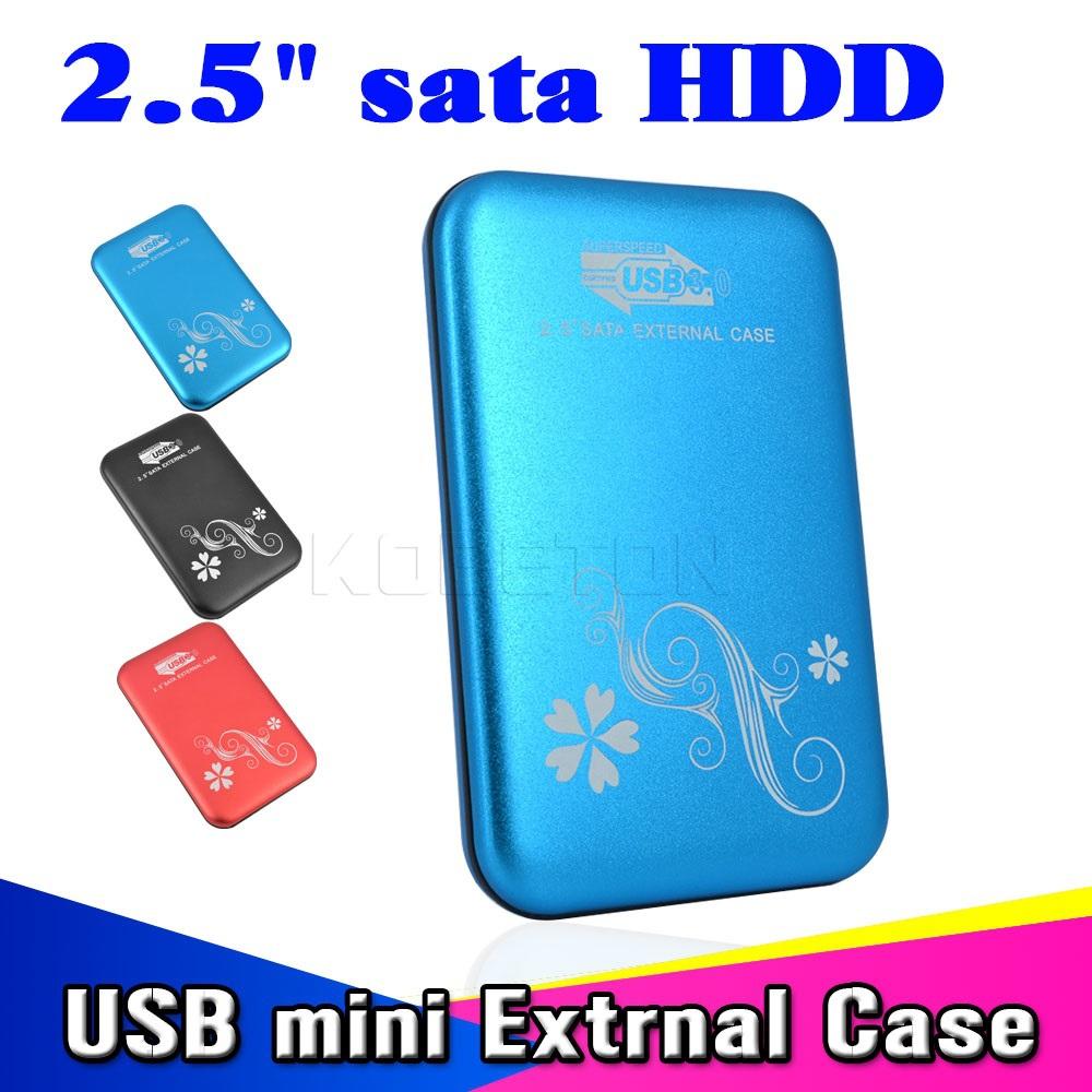 """2015 New Metal 2.5"""" 2.5 inch USB 3.0 to HDD Case Hard Drive Disk SATA External USB3.0 Storage Enclosure aluminium Box(China (Mainland))"""