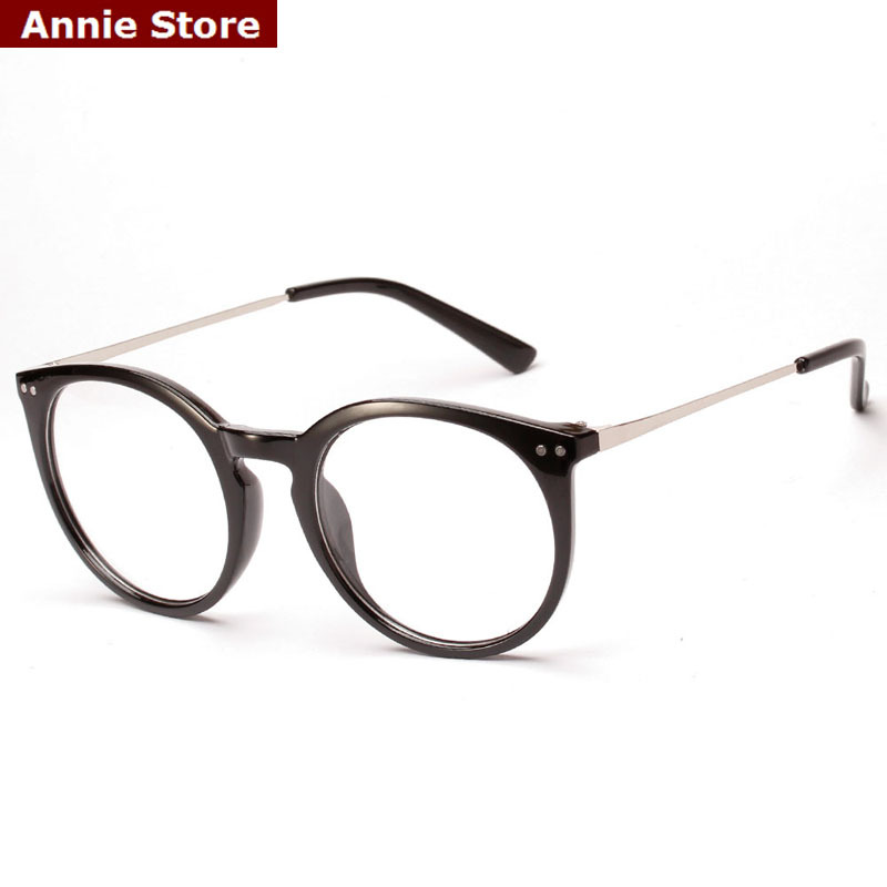 Eyeglass Frames Oval : New KOREAN fashion oval eyeglasses frames men rivets gold ...