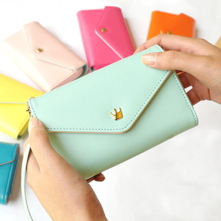 Hot Selling Crown Wallet Pouch Mini Handbag Envelope Case For Sony Xperia M2 / Z2/ Z3 General Multifunctional Phone Cover Bag(China (Mainland))