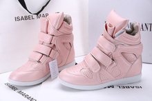 Isabel Marant Spring autumn Pink Women Sneakers New Arrival Fashion Wedge Sneakers
