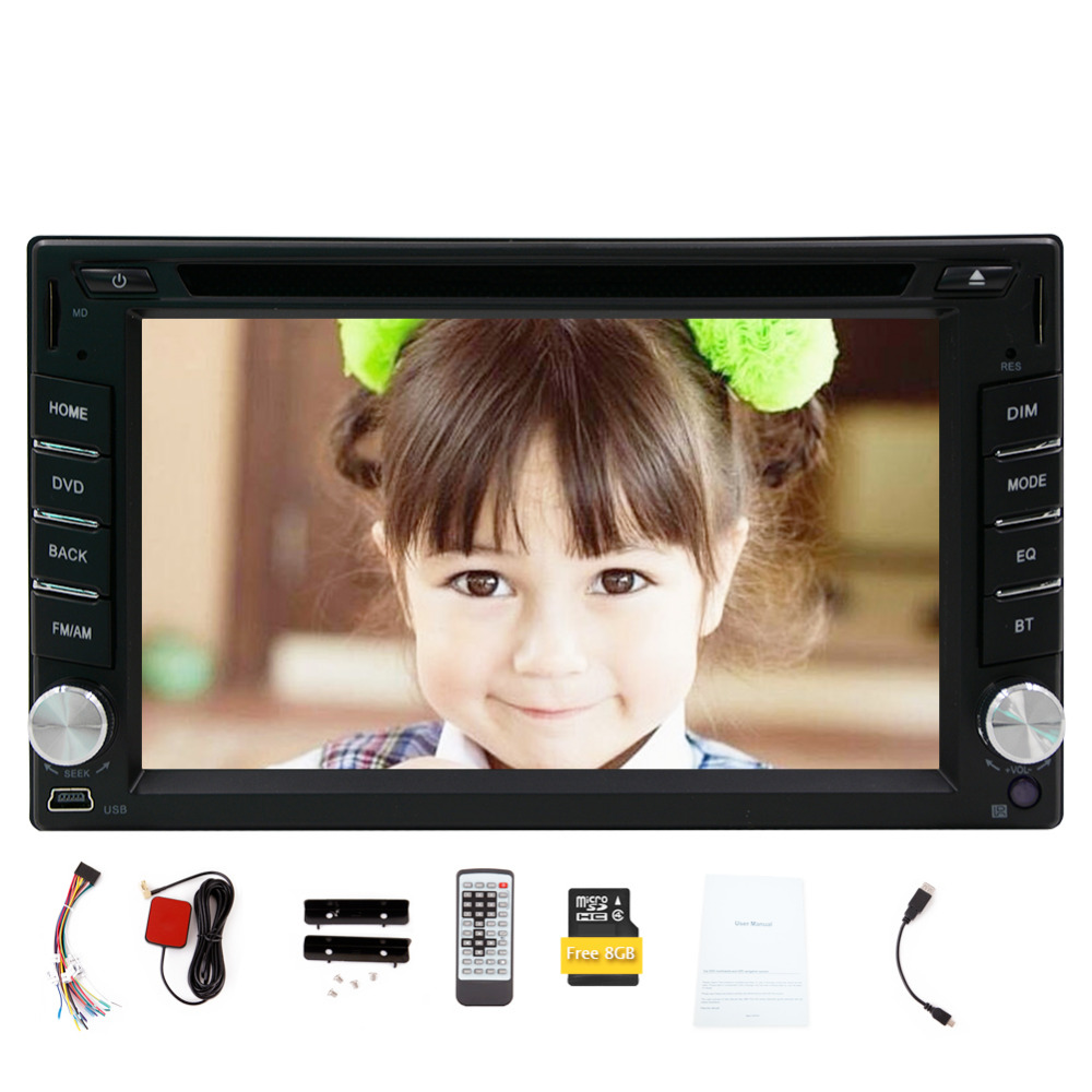 New Model!!! 2 DIN 6.2-inch In Dash Car DVD Player LCD Touch Screen Windows system GPS SAT Navigation Free 8GB MAP Card with Pre(China (Mainland))