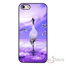 Crane Bird Wild Nature Protector back skins mobile cellphone cases for iphone 4/4s 5/5s 5c SE 6/6s plus ipod touch 4/5/6