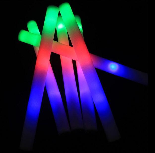 hot selling new 100pcs/lot led foam stick glow stick light cheering glow stick glowing stick(China (Mainland))