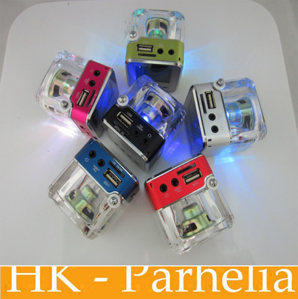 2Radio TT028 Mini Speaker Portable Micro SD / TF Music MP3 Player Sound Box Lcd Screen 6Colors - CNS GROUP CO.,LTD store