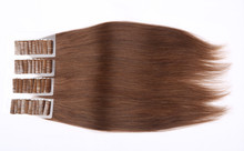 Cheap tape in human hair extension 20pcs lot 40pcs lot double drawn brazilian virgin hair free shipping tape hair extension(China (Mainland))