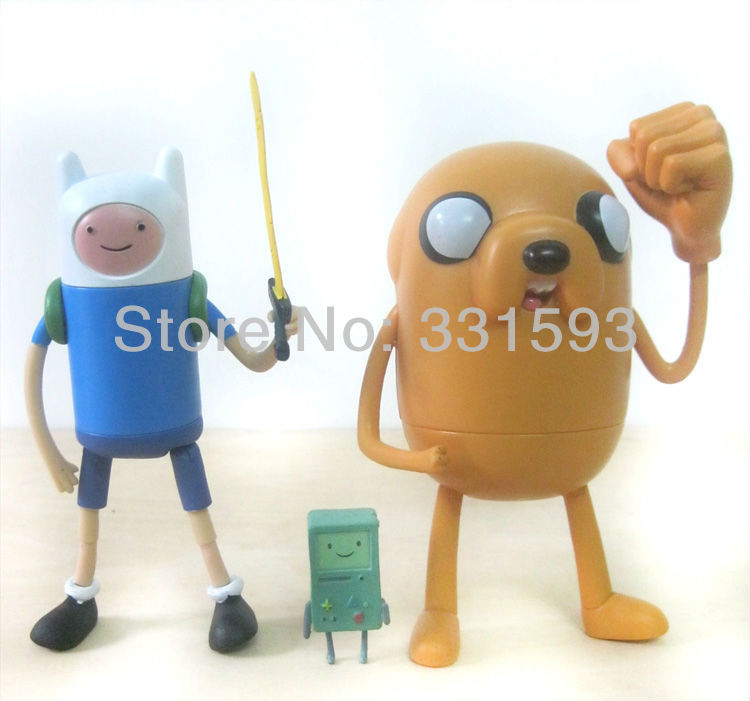 5sets/lot Fashion Free Shipping 2pcs/Set Adventure Time With Finn &amp; Jake 5  Action Figure Toy good quality for gifts<br><br>Aliexpress