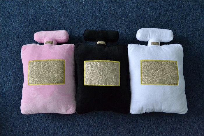 Nice Short Plush Perfume Bottle Shape Pillows Fiber Fillings Home Car Seat Sofa Bedding Couch Cushion Decoration 25(China (Mainland))