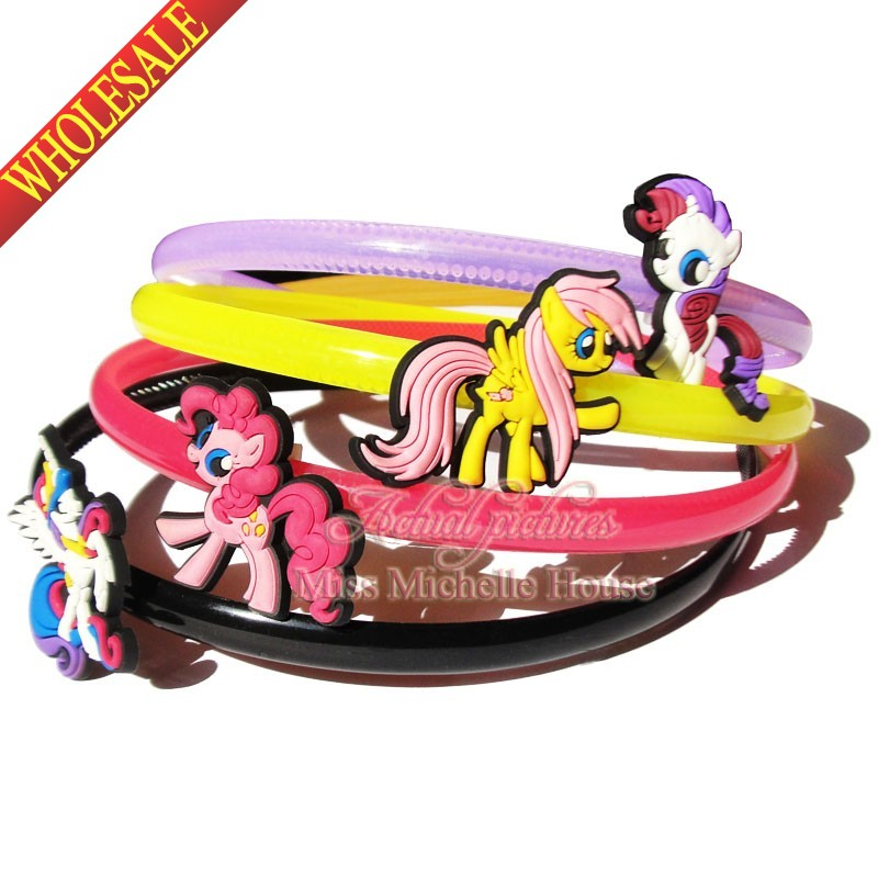 4pcs My Little Ponies Headband Hair Bands for Girls Women Headwear Hair Accessories(China (Mainland))