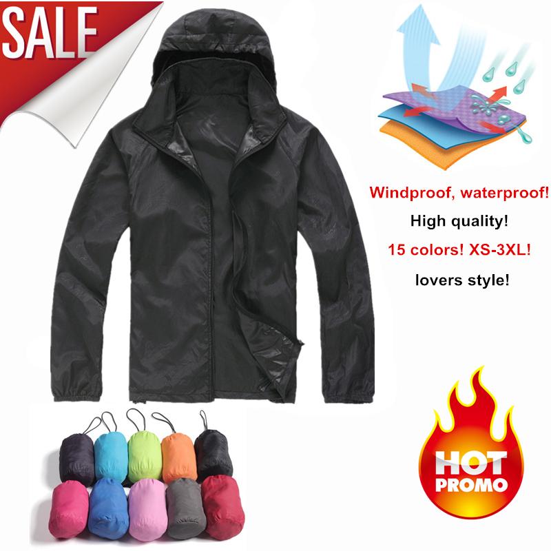 2014 Hiking Brand Windbreaker XS-XXXL Women Men Outdoor Sport Waterproof Jacket Quick-dry Clothes Skinsuit Plus Size Outwear(China (Mainland))