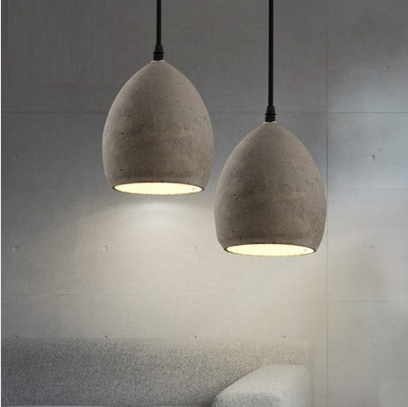 Industrial Loft Style Creative Cement Droplight LED Vintage Pendant Light Fixtures For Dining Room Hanging Lamp Lampara<br><br>Aliexpress